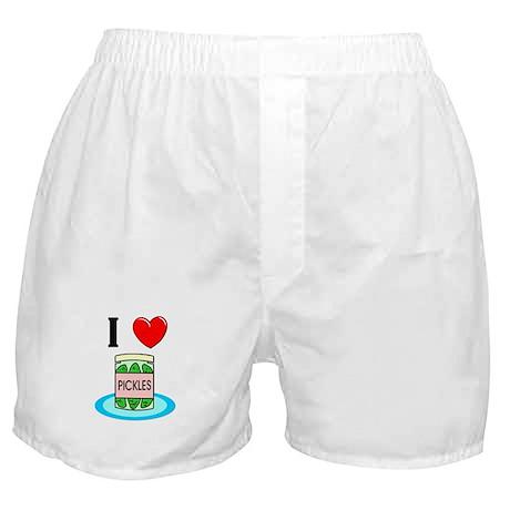 I Love Pickles Boxer Shorts