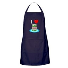 I Love Pickles Apron (dark)