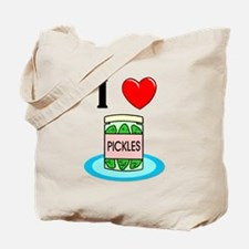 I Love Pickles Tote Bag