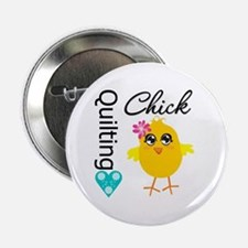 """Quilting Chick 2.25"""" Button"""