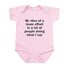 Team Effort Infant Bodysuit