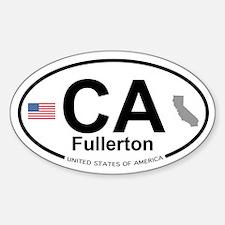 Fullerton Sticker (Oval)