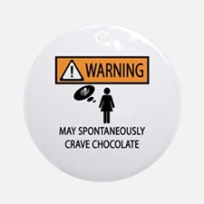 Chocolate Craving Ornament (Round)