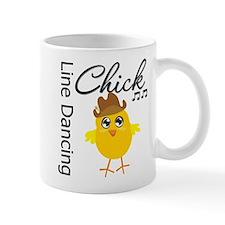 Line Dancing Chick Small Mug