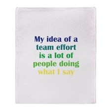 Team Effort Throw Blanket