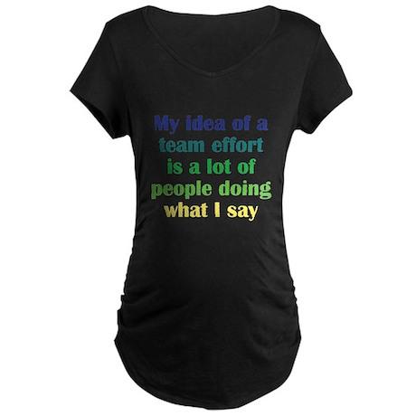 Team Effort Maternity Dark T-Shirt