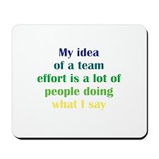 Team Effort Mousepad