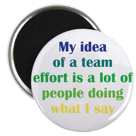 "Team Effort 2.25"" Magnet (100 pack)"