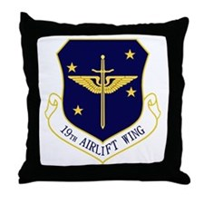 19th Airlift Wing Throw Pillow