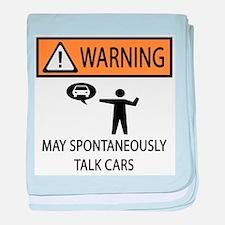 Car Talk Warning baby blanket