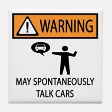 Car Talk Warning Tile Coaster