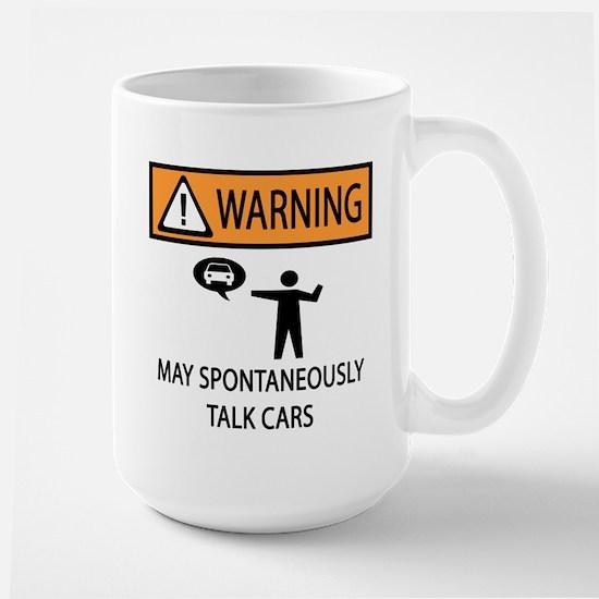 Car Talk Warning Large Mug