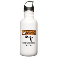 Car Talk Warning Water Bottle