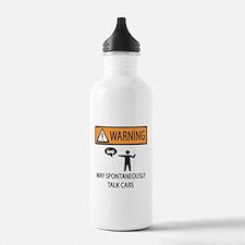 Car Talk Warning Water Bottle