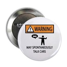 "Car Talk Warning 2.25"" Button"