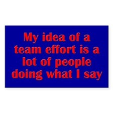 Team Effort Decal
