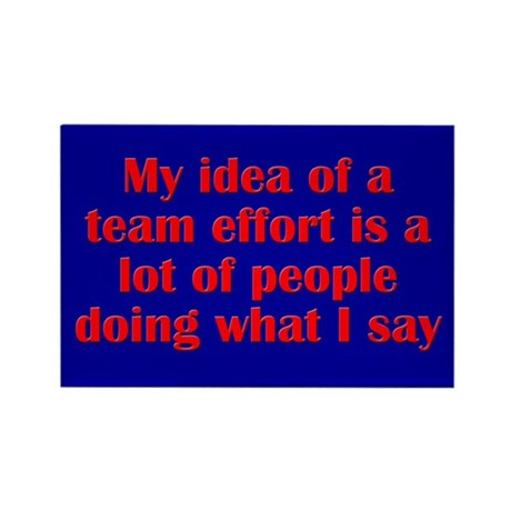 Team Effort Rectangle Magnet (100 pack)