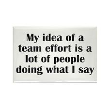 Team Effort Rectangle Magnet