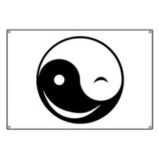 Winky Yin Yang Banner