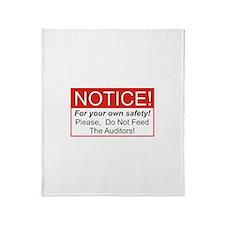 Notice / Auditors Throw Blanket