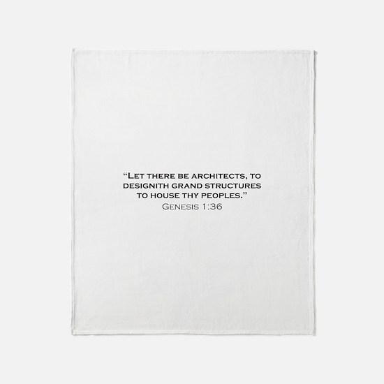 Architect / Genesis Throw Blanket