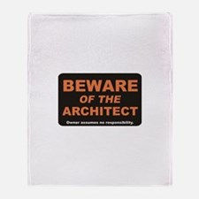 Beware / Architect Throw Blanket