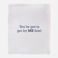 Get by me First Throw Blanket