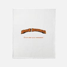 HR / Resume Throw Blanket