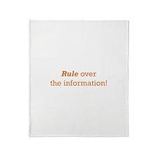 Rule / Information Throw Blanket