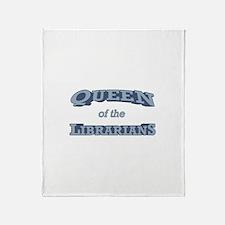 Queen Librarian Throw Blanket