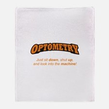Optometry / Machine Throw Blanket