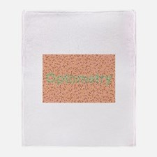 Optometry / Color Throw Blanket