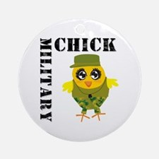 Military Chick Ornament (Round)