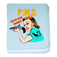 PMS Warning baby blanket