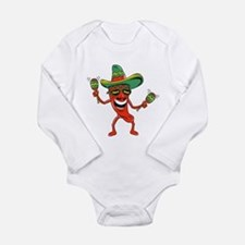 Hot Mexican Pepper Long Sleeve Infant Bodysuit