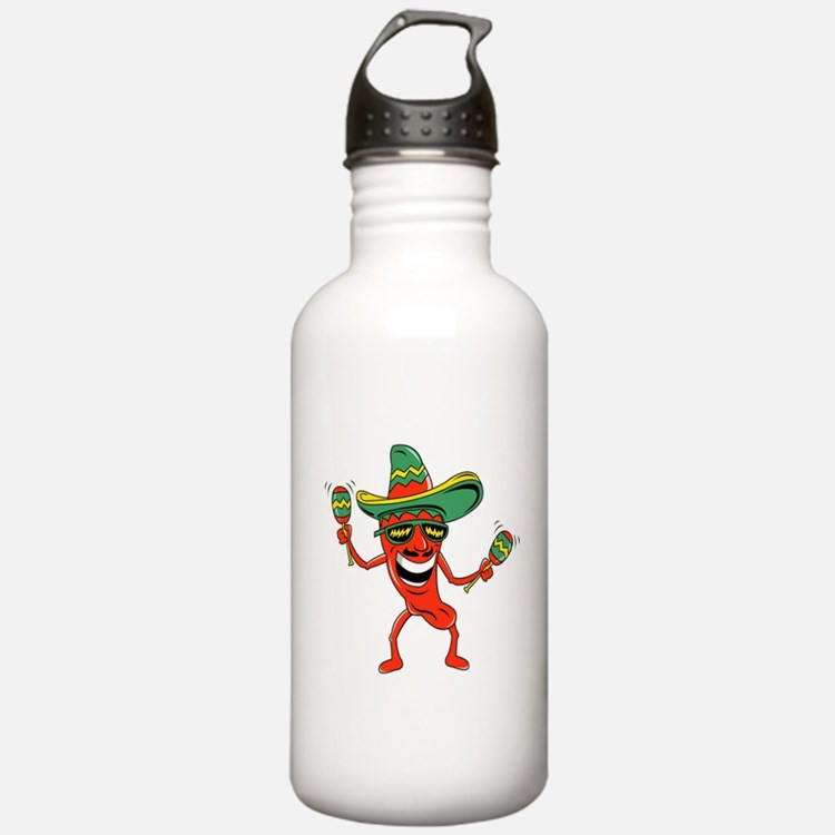 Hot Mexican Pepper Sports Water Bottle