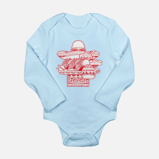 Mexican Heritage Long Sleeve Infant Bodysuit