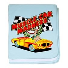Muscle Car Madness baby blanket
