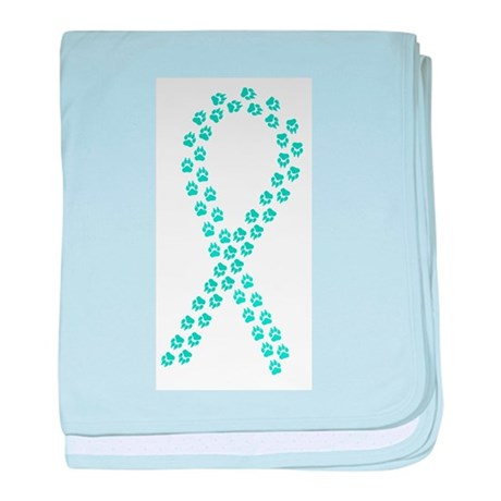 Teal Paws4Cure baby blanket