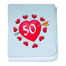 50th Valentine baby blanket