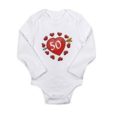 50th Valentine Long Sleeve Infant Bodysuit