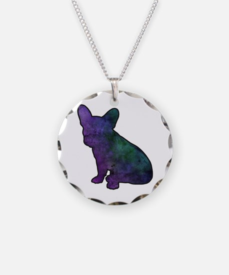 Unique French bulldog Necklace Circle Charm