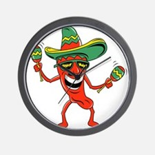 Hot Mexican Pepper Wall Clock