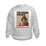 Damn Proud Infidel Kids Sweatshirt