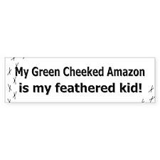 Green Cheeked Amazon Feathered Kid Bumper Bumper Sticker