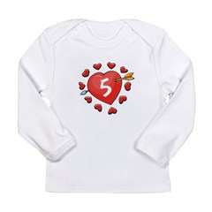 5th Valentine Long Sleeve Infant T-Shirt