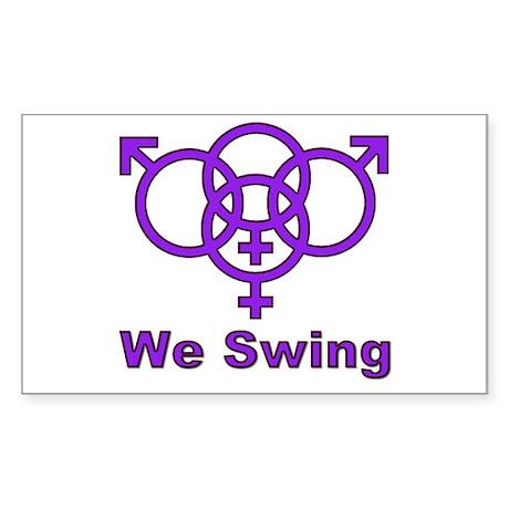 Swinger symbol quot we swing quot decal by swingersymbol2
