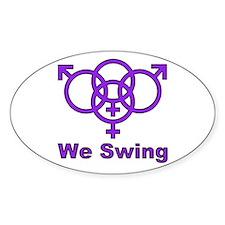 "Swinger Symbol-""We Swing"" Decal"