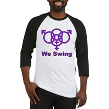 "Swinger Symbol-""We Swing"" Baseball Jersey"