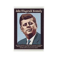 JFK - Measure Rectangle Magnet
